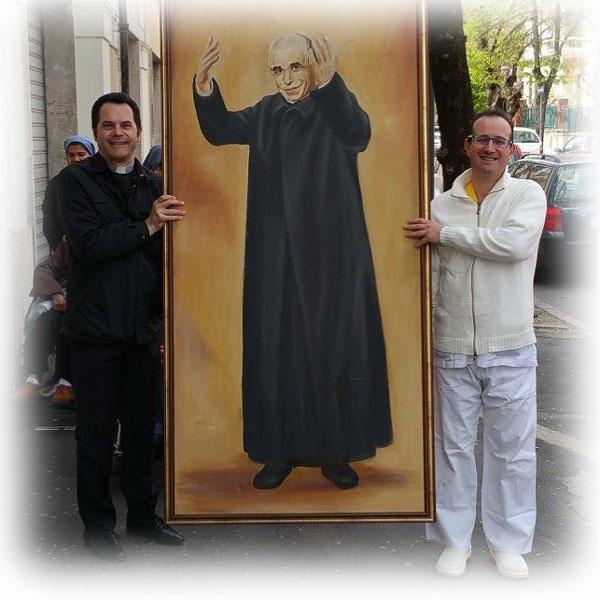 Don Guanella e Don Orione nella cattedrale di Avezzano