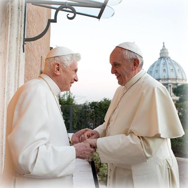 Francesco e Benedetto all'apertura della Porta Santa