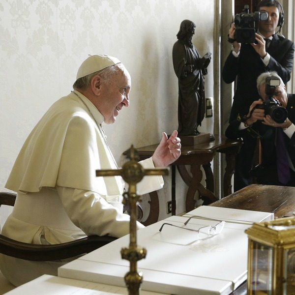 Papa Francesco riceve in udienza i padri capitolari e il nuovo superiore generale