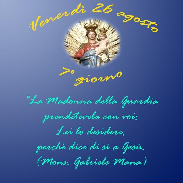 Tortona – 7° Giorno della Novena alla Madonna della Guardia