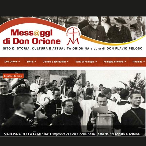 Mess@ggi di Don Orione – Nuovo Sito Orionino