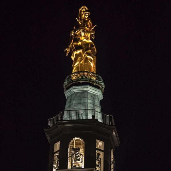 Tortona – Illuminazione Statua e Torre della Madonna della Guardia