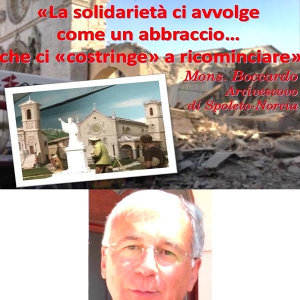 """""""Abbraccio di solidarietà"""" di Gavardo nelle parole dell'Arcivescovo di Norcia Mons. Boccardo"""