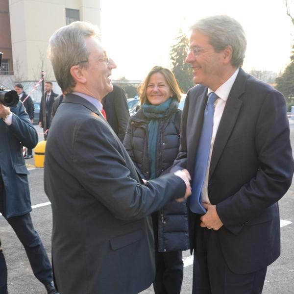 Milano – Il presidente Gentiloni in visita al Piccolo Cottolengo
