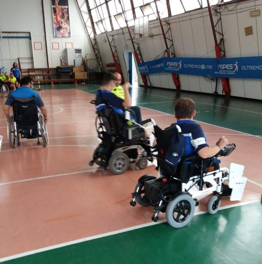 Roma – La squadra di Powerchair Football di Ercolano in torneo