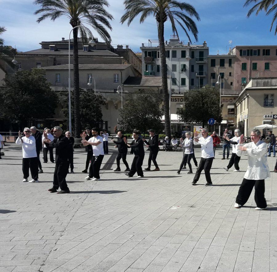 Genova – Gli Atleti del Villaggio al World Tai Chi Day 2019