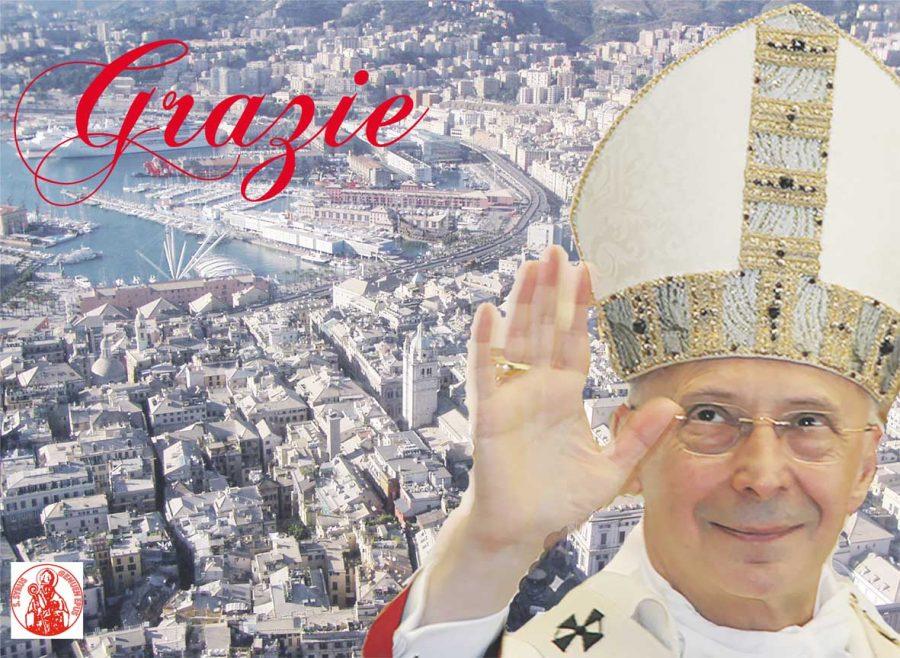 Genova – Il Cardinale Bagnasco saluta la Chiesa e la Città